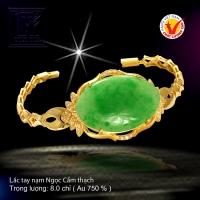 Lắc tay nạm Ngọc Cẩm thạch