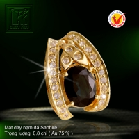 Mặt dây nạm đá Saphire
