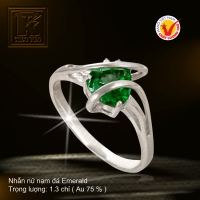 Nhẫn nữ nạm đá Emerald