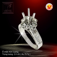 Nhẫn nữ nạm Kim cương