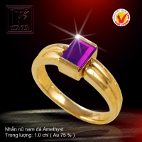Nhẫn nữ nạm đá Amethyst