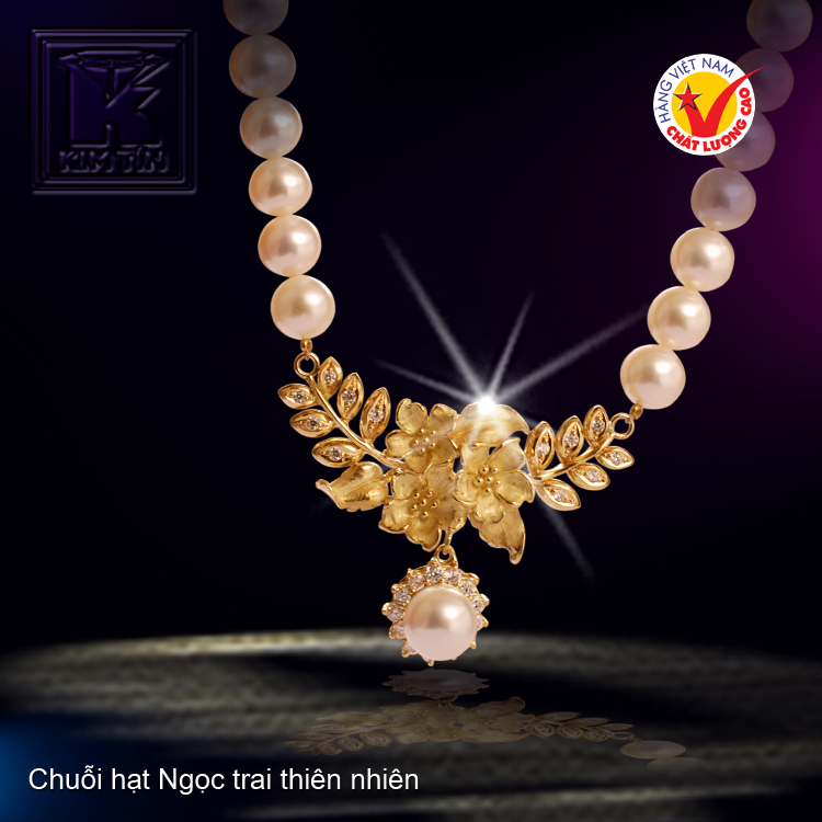 Chuỗi hạt Ngọc trai tự nhiên